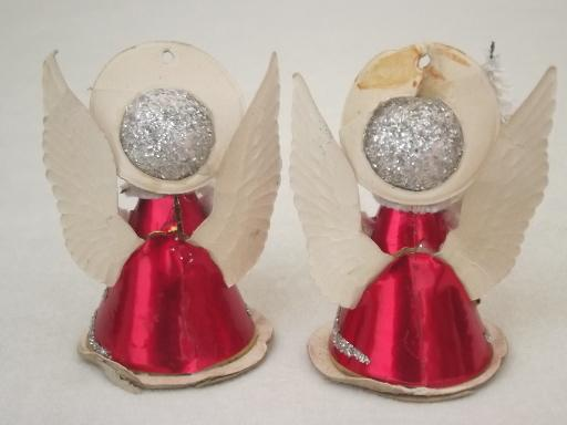 paper angels, vintage made in Japan Christmas ornament decorations
