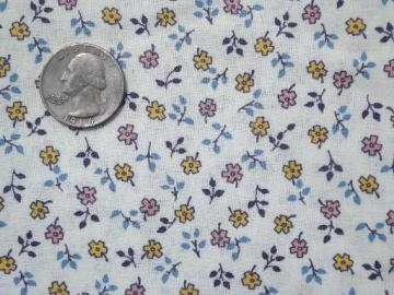 tiny print flowers vintage 36 wide cotton quilting / doll clothes fabric