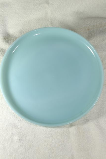 Swirl Dinner plate Azur-ite 1950s FIRE KING Vintage Midcentury Scalloped Blue Azurite Set of 4 bowl 9 inches Oven Safe