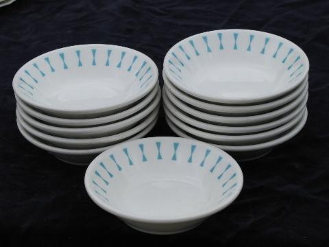 Turquoise Geometric Vintage Homer Laughlin Best China