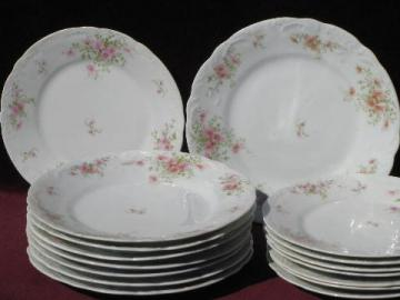 unmarked antique porcelain plates for 8, vintage Limoges or Germany?