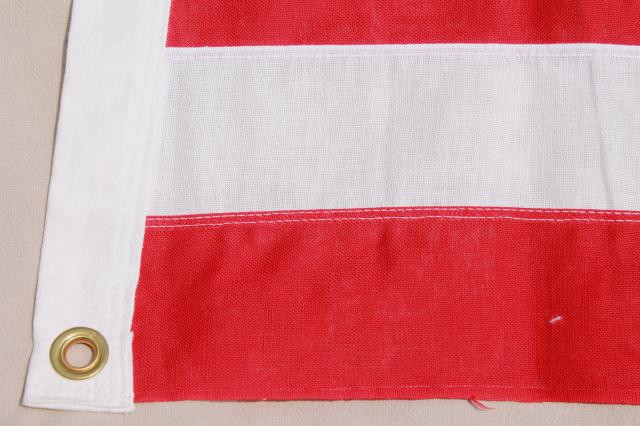 unused vintage American flag, 100% cotton fabric, original Bull Dog Bunting box