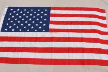 unused vintage American flag, 100% cotton fabric, original Bull Dog Bunting box