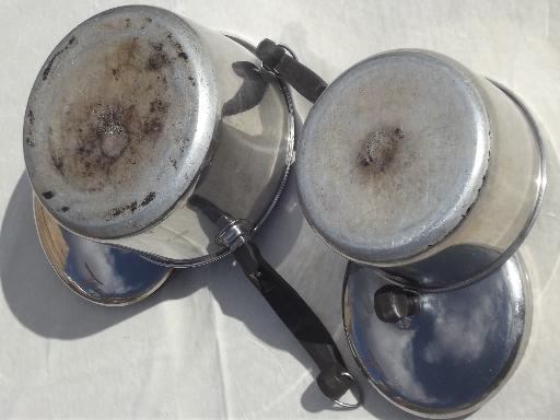 Used Farberware Aluminum Clad Stainless Cookware Skillet Frying Pans Pots