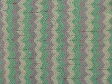 very large crochet afghan, pale tan, green, yellow, soft acrylic
