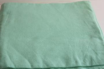 vintage 100% cotton flannel fabric, retro mint green solid color