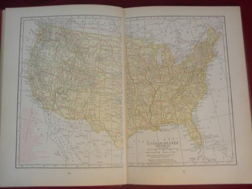 Vintage 1926 world atlas and gazetteer w100 full color maps index etc gumiabroncs Image collections