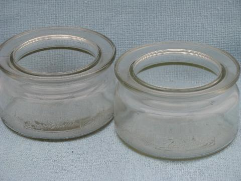 vintage 1930s depression glass kitchen / pantry storage canister jars