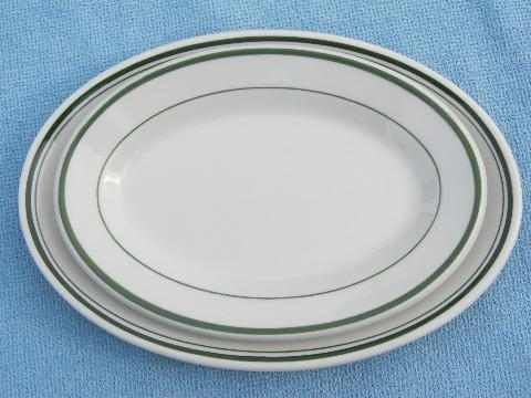 & vintage 1940s restaurant / railroad ironstone china butter plates