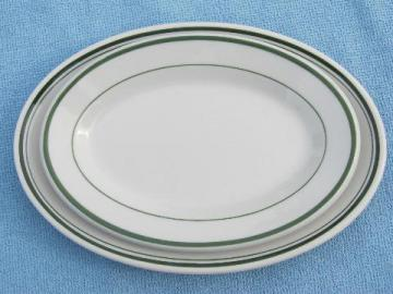 vintage 1940s restaurant / railroad ironstone china butter plates
