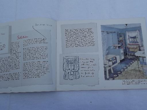 vintage 1942 Armstrong flooring idea book catalog, new designs in color