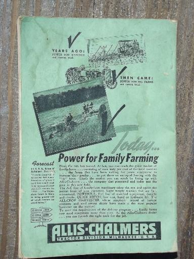 vintage 1942 WWII farm equipment buyer's guide agricultural advertising
