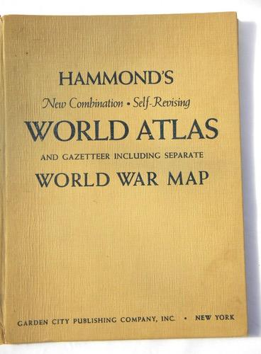 Vintage 1943 wwii hammonds world atlas with full color maps gumiabroncs Choice Image