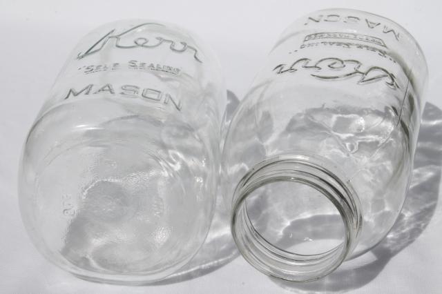 Vintage 2 Qt Size Mason Jars Pickle Jar Canning Jars Or