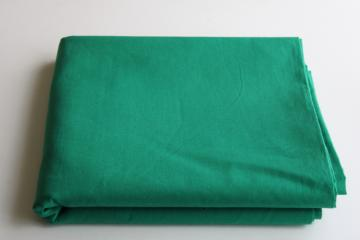 vintage 36 wide cotton fabric, quilting weight solid color kelly green