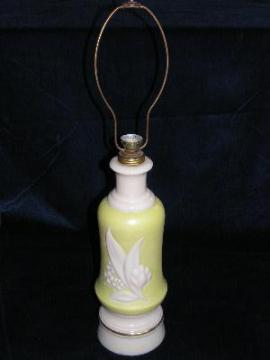 vintage Aladdin lamp, alacite glass, no finial
