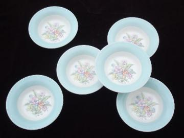 vintage American Limoges china bowls, Oslo or Norway blue band border