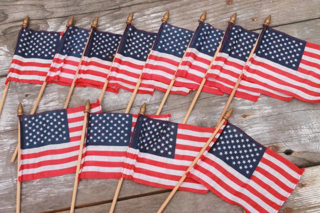 vintage American flag patriotic party holiday small parade