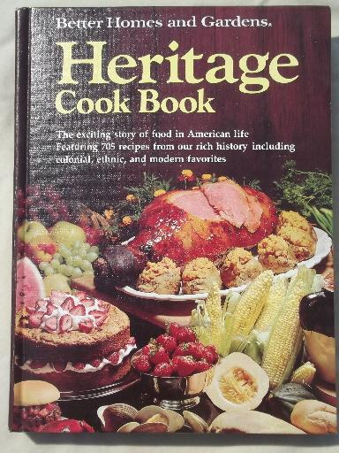 vintage American food history recipes cookbooks, BH&G Heritage cook book