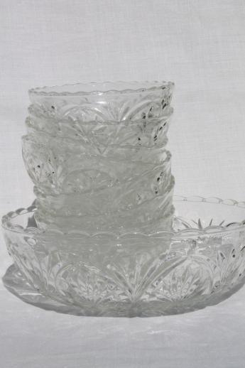 Cut Glass Salad Bowl Set
