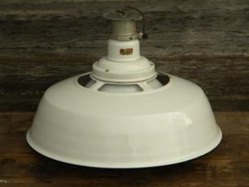 vintage Appleton industrial gas station or barn light w/glass globe
