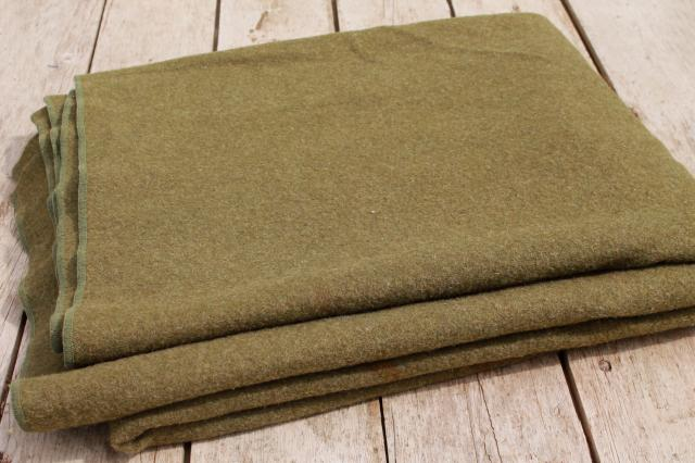Vintage Army Blankets Lot Old Wool Blankets For Camping