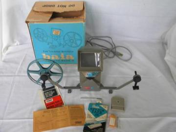 vintage Baia Mark II 8mm movie film editor / splicer w/original box