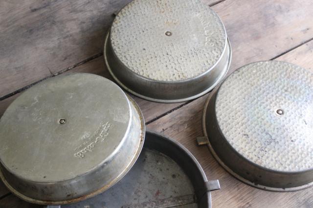 Vintage Bake King Bakeware Round Cake Baking Pans W