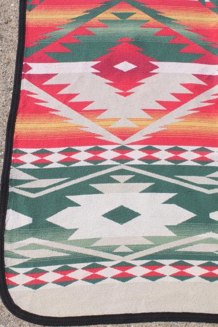 Vintage Beacon Cotton Camp Blanket Indian Blanket Woven