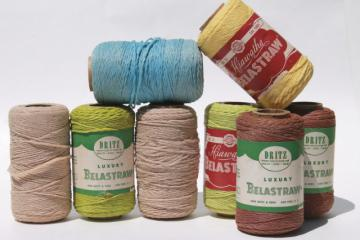 vintage Belastraw raffia straw type yarn, embroidery thread or package tying cord