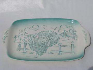 vintage Bell - California pottery Thanksgiving turkey platter