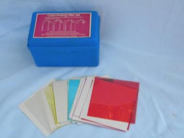 vintage Beseler color filter set for photo darkroom film developing