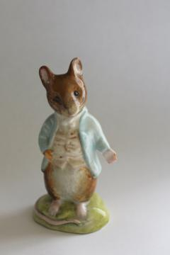 vintage Beswick china Beatrix Potter character Johnny Town Mouse figurine