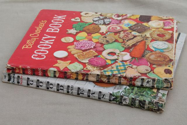 vintage Betty Crocker cookbooks, Cooky book cookies, New Good & Easy recipes 1960s