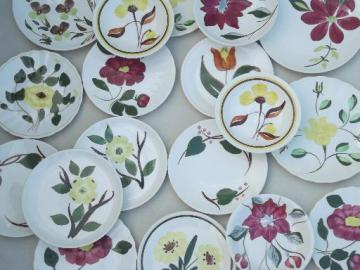 vintage Blue Ridge & other hand-painted pottery small plates & bowls lot