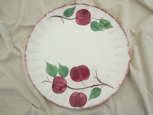 vintage Blue Ridge pottery crab apple painted cake plate or platter