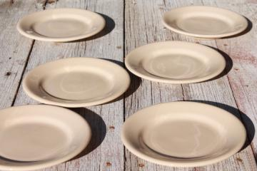vintage Buffalo china adobe cafe tan ironstone restaurant ware diner plates
