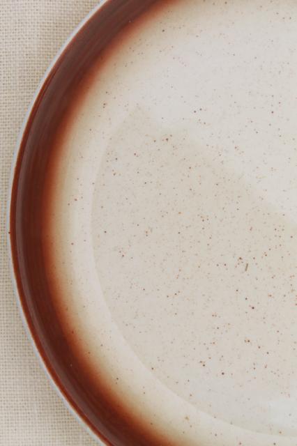 vintage Buffalo china plates tan spatter w/ brown border western c& dishes & Buffalo china plates tan spatter w/ brown border western camp dishes