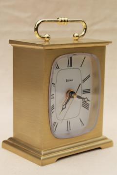 vintage Bulova clock, brass case mantel clock movement made in Japan
