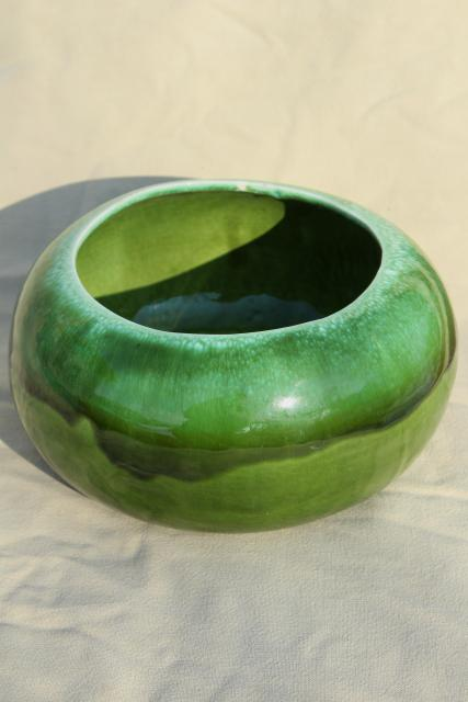 Vintage California Pottery Green Drip Glaze Ceramic Large