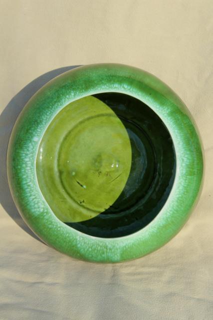 Vintage California Pottery Green Drip Glaze Ceramic Large