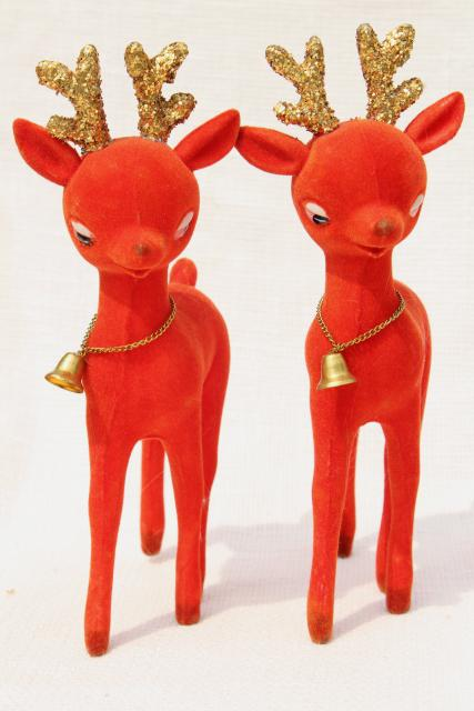 Vintage Christmas Decorations Blow Mold Plastic Deer