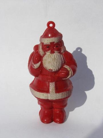 Vintage Christmas Decorations Ornaments Lot Santa Boots Candy
