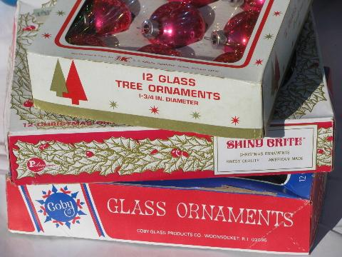 vintage Christmas ornaments, lot mercury glass balls, Shiny Brite etc