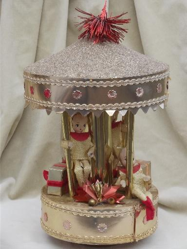 christmas candle merry go round