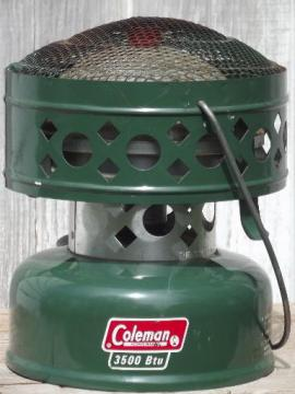 vintage Coleman catalytic camping heater, 3500 btu model 512a