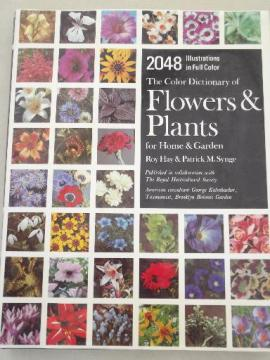 vintage Color Dictionary of Flowers & Plants, Royal Horticultural Society