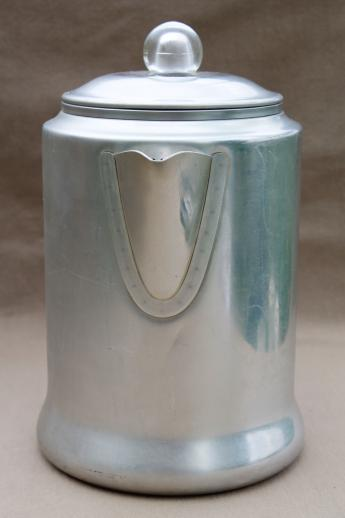Vintage Comet Aluminum Coffee Pot Stovetop Percolator 12