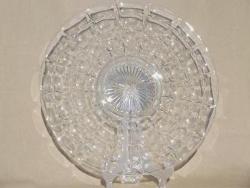vintage Constellation pattern glass platter, large cake or torte plate