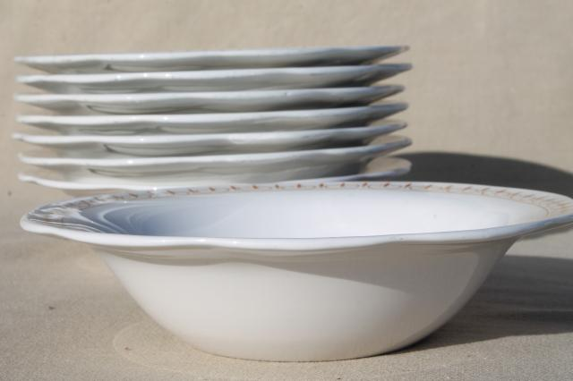 vintage Corning Pyroceram heat proof restaurant quality heavy weight soup bowls